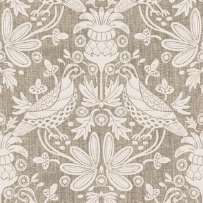 Bobwhite and Thistle, Muslin, Textured