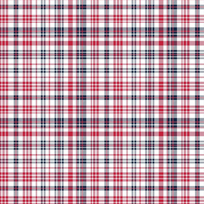 st louis plaid fabric - sports baseball colors