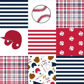 "st Louis baseball quilt fabric - cheater quilt 6"" squares"