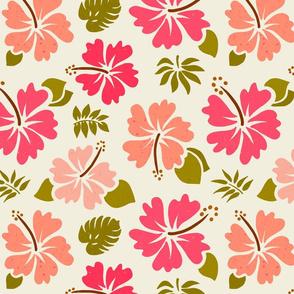 Wild Pink'n Peach Hibiscus