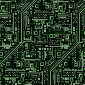 Evil Robot Circuit Board (Green Small)