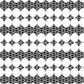 Arcs + Circles - White on Black