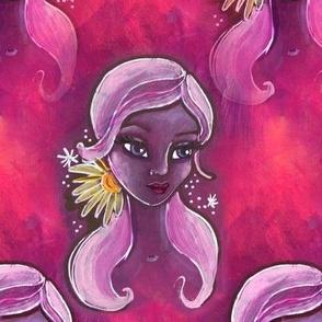 lady daisy in purple