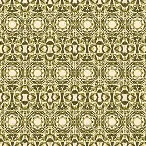 geometric green yellow