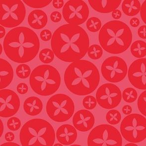 Repeat pattern in warm retro color