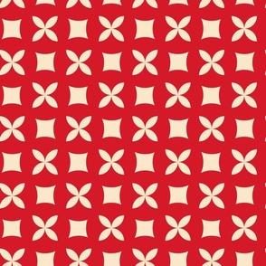 Orange brown fantasy retro print