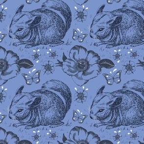 Chinchilla floral smaller blue
