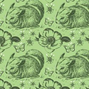 Chinchilla floral smaller green