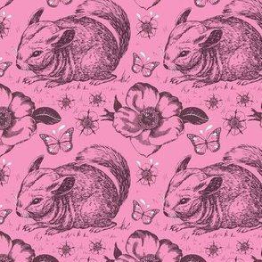 Chinchilla floral smaller pink
