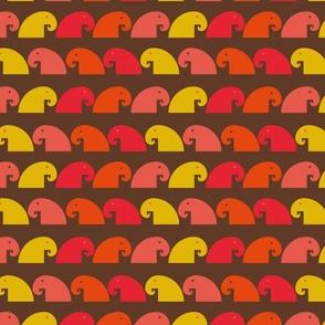Warme kleuren olifant