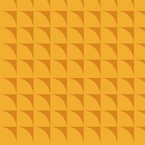 Yellow retro figures