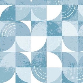 Geometry in Motion (Blue) - Large Scale