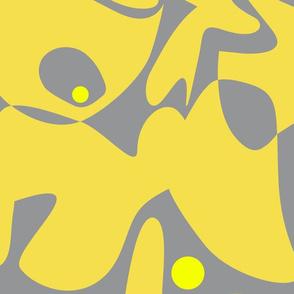 Pantone 2021 organic yellow gray jumbo scale