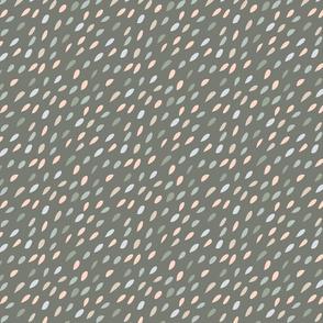Diagonal Seeds in Neutral Green Gray Beige Medium Scale
