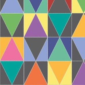 Triangle Patchwork bright
