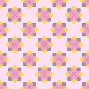 Lotus Flower in Bright Pastels