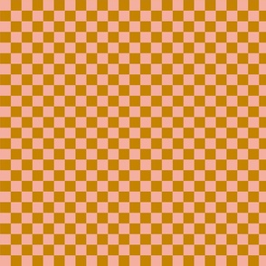 Mustard and Blush Checkers