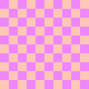 lilac and peach checkers