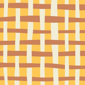 Loosely Woven - Daffodil and Caramel