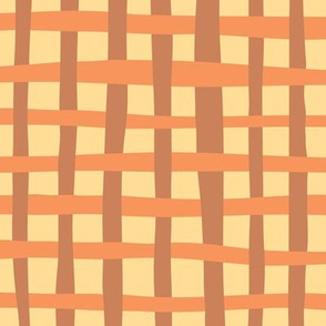 Loosely Woven - Tangerine and Caramel
