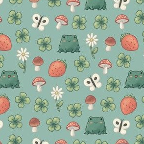 Froggy Forest Teal (small)