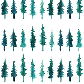 Watercolor Pine Trees (small)
