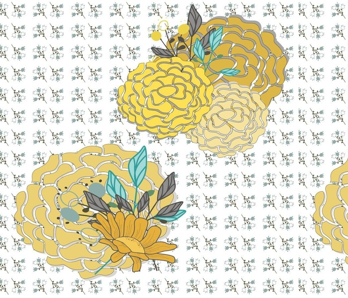 Peonies in Yellow