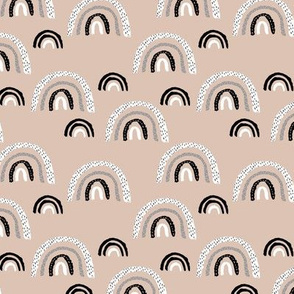 I wanna be a rainbow high in the sky cool abstract trend print beige sand SMALL