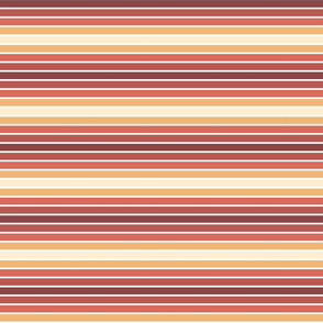 60s sunset stripes with white stripes