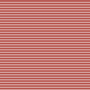 Light Rust and white stripes - smaller