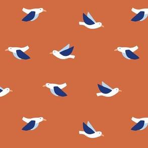 Seagulls in rust