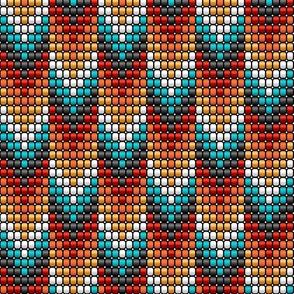 Boho beads tribal arrows orange black red teal yellow Wallpaper