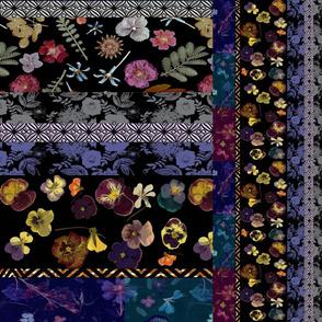 patchwork floral stripe horizontal vertical