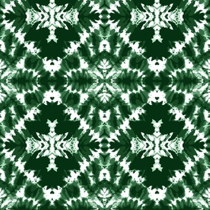 Tie dye dark green diamonds shibori large Wallpaper