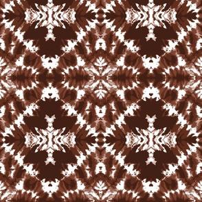 Tie dye brown diamonds shibori large Wallpaper