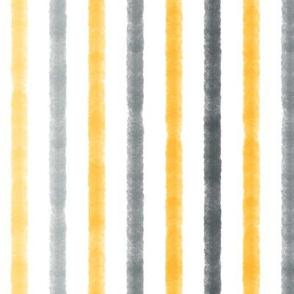 Watercolor Stripe - Yellow/Grey