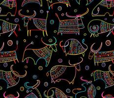 Funny Bulls Colorful