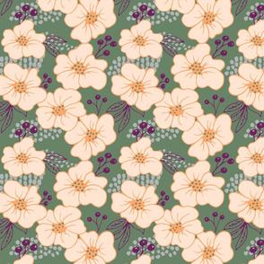 peach-green-floral