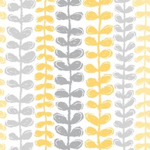 Fine Vine - Grey/Yellow
