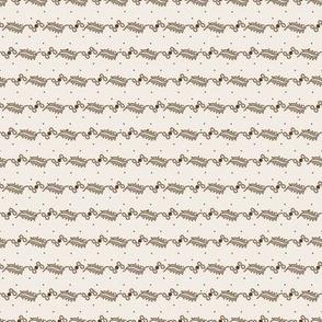 curlique stripe with dots cream 2055-29