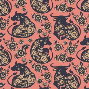 Year of the Ox - cut paper pattern