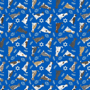 Tiny assorted Border Whippets - Hanukkah
