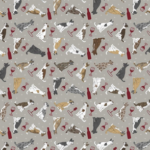 Tiny assorted Border Whippets - wine