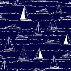Boats on navy 2