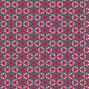 Diamond stars kaleidoscope- pink and green