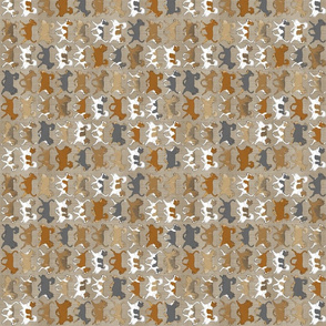 Tiny Trotting faux linen Chihuahua border - vertical