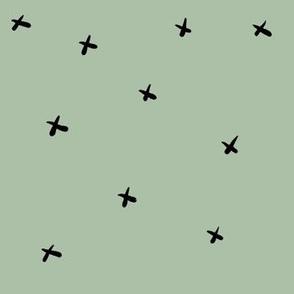 Sketch Green Crosses