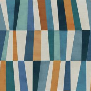 Harlequin patchwork - blue lagoon (medium)