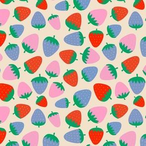 strawberries on cream - half size