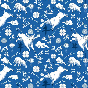 Year of the Ox Blue